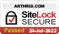 Arthrid.com is tested daily to ensure your data is secure.