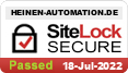 Heinen Automation, website security by SiteLock